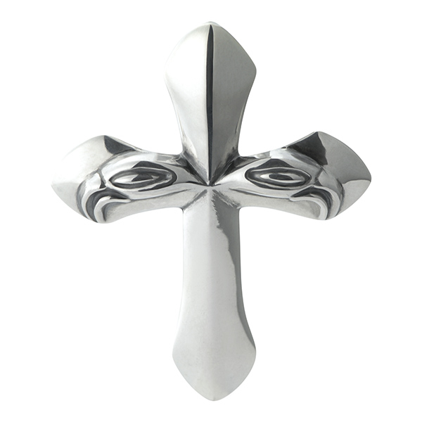 Carved Silk Cross M -カーブドシルククロスペンダント ミディアム-