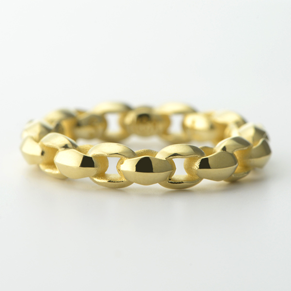 Mini Silk Link Ring K18 Yellow Gold -ミニシルクリンクリング K18 YG-