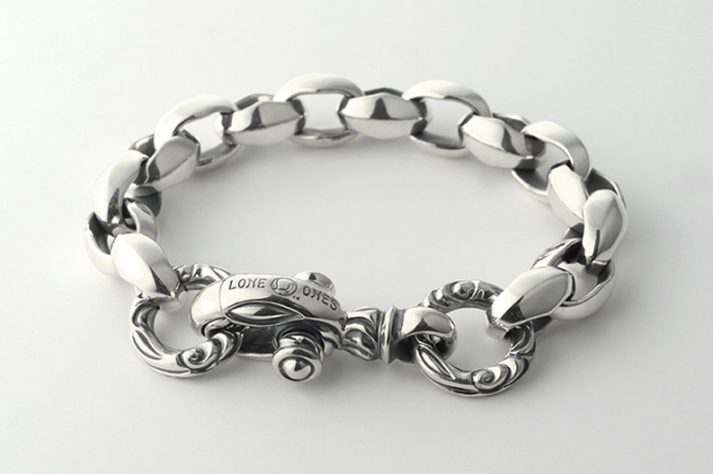 Silk Link Bracelet Medium (Crane Circle) Short -シルクリンクブレスレット ミディアム クレーンサークル ショート-
