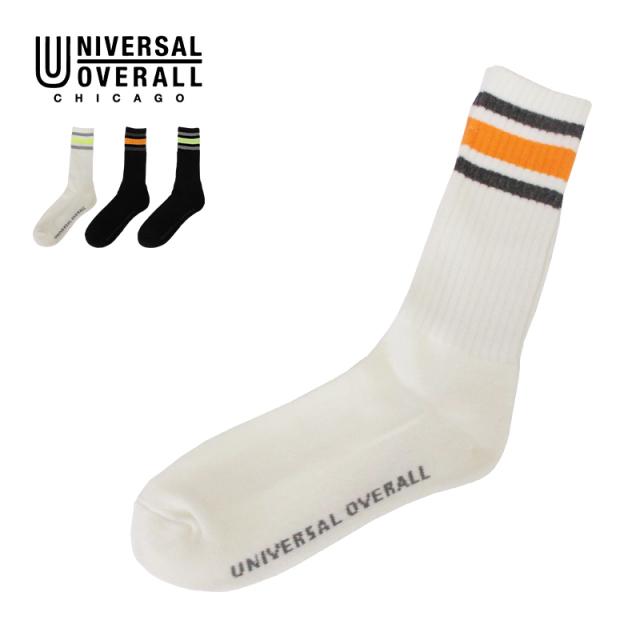 UNIVERSAL OVERALL ソックス リフレクター クルー LU-010