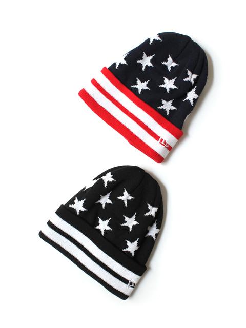【60%OFF】NEW ERA  Cuff Knit Stars & Stripes
