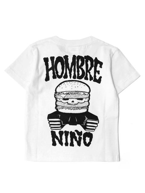 〈Kids Size〉 Hombre Nino S/S PRINT TEE -BURGER SKULL-