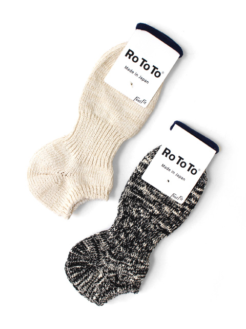 【20%OFF】RoToTo LOW GAUGE SLUB SOCKS SHORT(ショート)