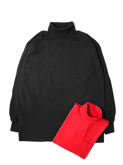LIFEWEAR Turtle Neck L/S Pocket T-shirts -COLOR-