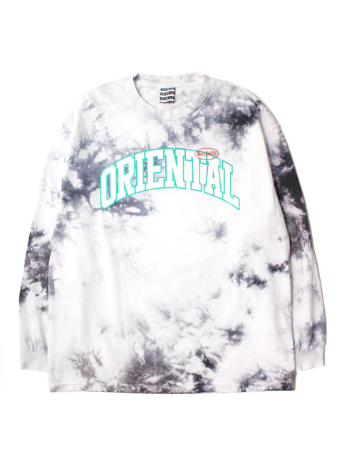 SAYHELLO Oriental Tie Dyed Long-Sleeve Tee