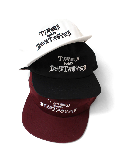 【40%OFF】THRASHER x TIRED CAPSULE COLLECTION T&D 5-PANEL UNCONSTRUCTED CAP