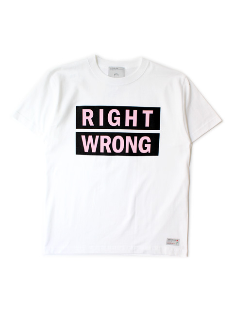 """【40%OFF】A.FOUR Labs ×Cali Thornhill DeWitt PRINT T """"RIGHT WRONG"""""""