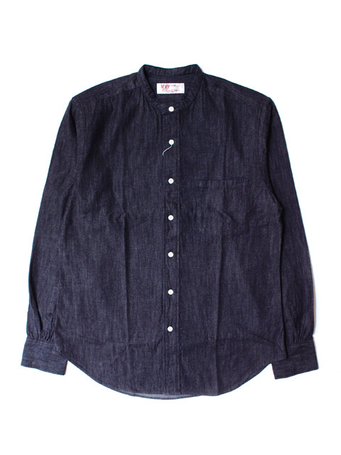 M.V.P. BAND COLLAR SHIRT DENIM