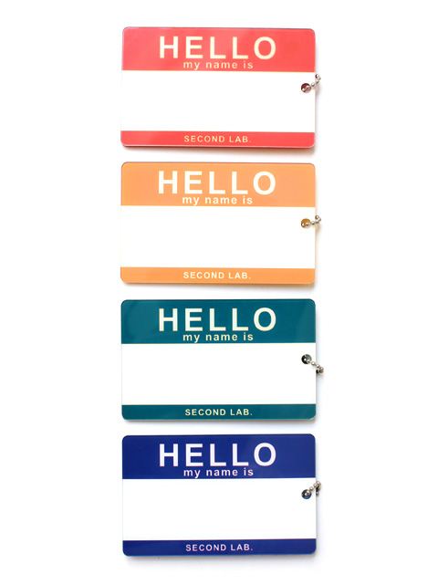 【40%OFF】SECOND LAB. HELLO NAME PLATE