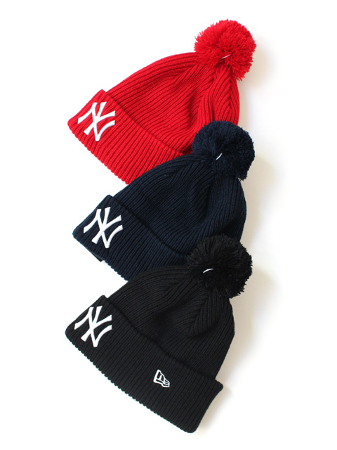 【40%OFF】NEW ERA POM PON KNIT RIB NY