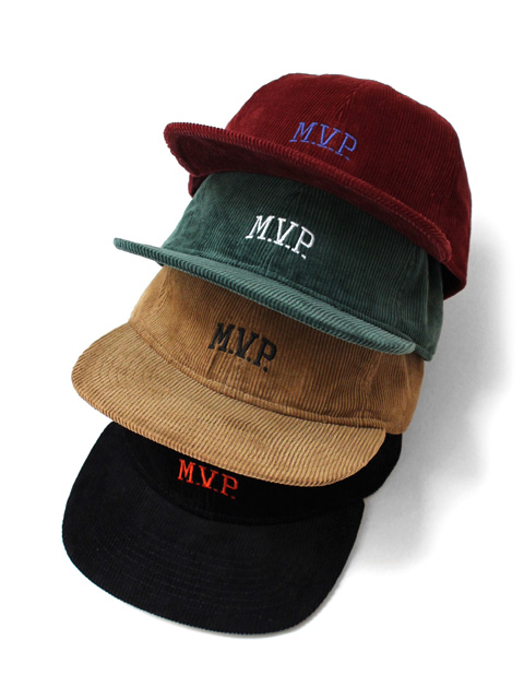 【70%OFF】M.V.P. COLLEGE LOGO 6PANEL CAP CORDUROY