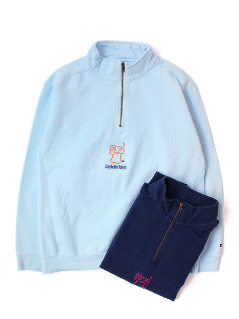 【40%OFF】SAYHELLO Skip Harf-Zip Sweat