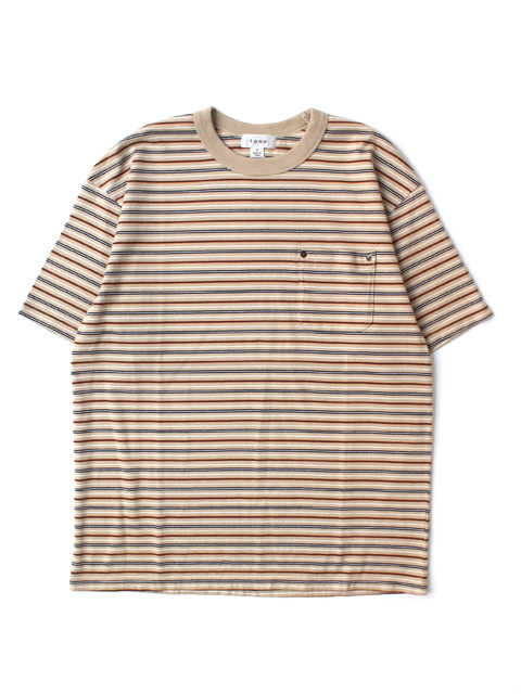 【60%OFF】tone MULTI STRIPE TEE