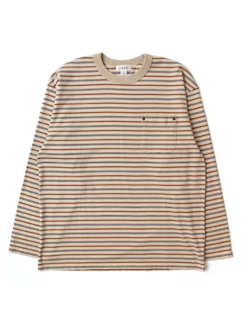 【60%OFF】tone MULTI STRIPE L/S TEE