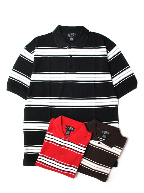 Cal Top BORDER S/S POLO SHIRTS