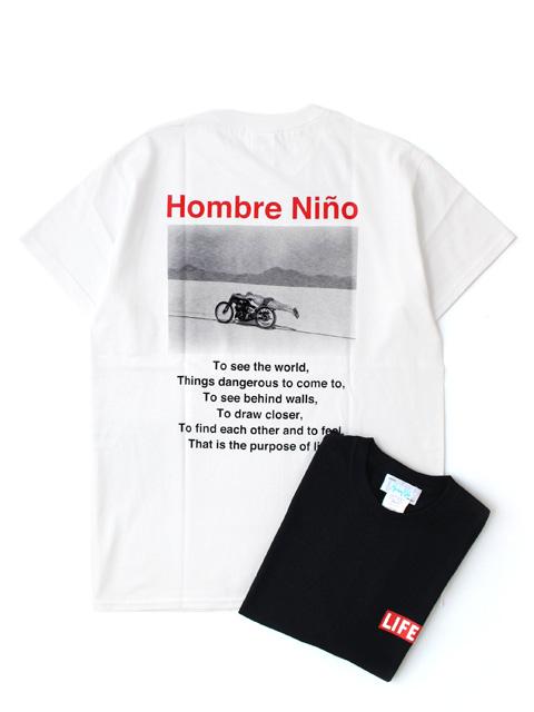 Hombre Nino S/S PRINT TEE  -LIFE 2-
