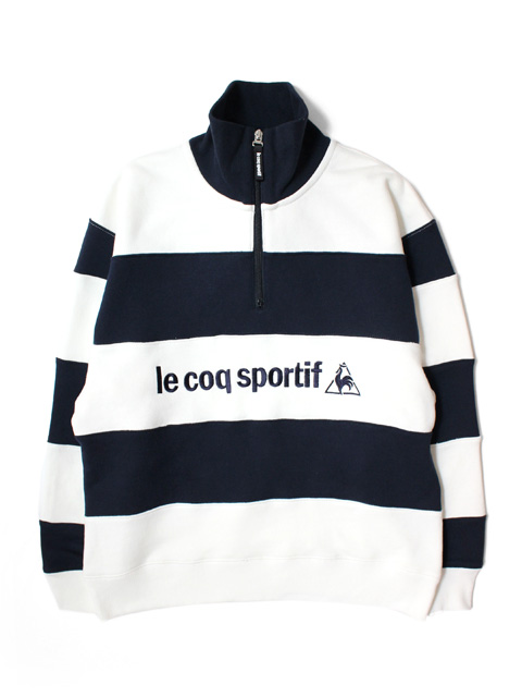 tone × le coq sportif BORDER HALF ZIP SWEAT