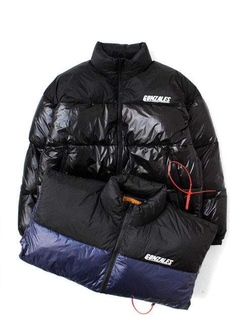 Mark Gonzales STAND COLLAR PUFFY JACKET