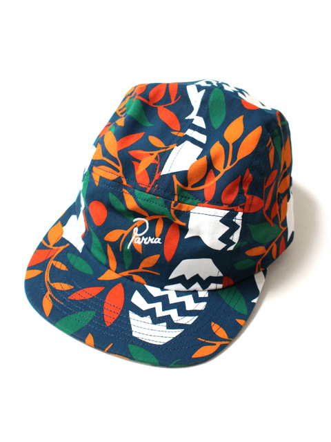 by Parra 5 panel volley hat still life with plants