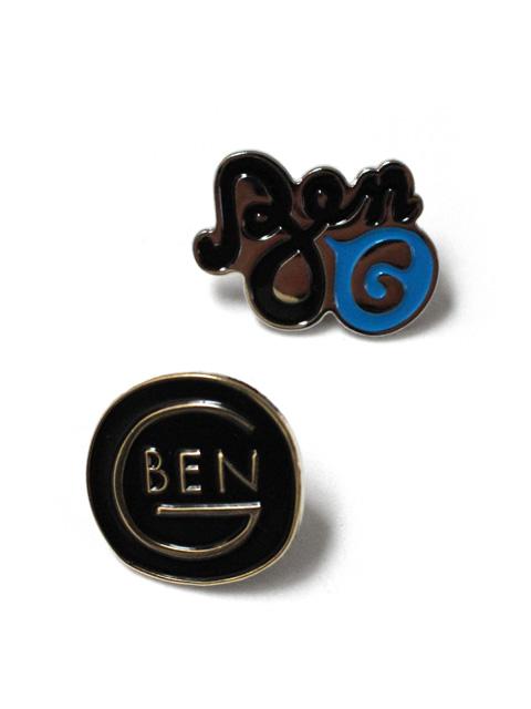 【40%OFF】BEN-G Script Logo Pin & Round Logo Pin