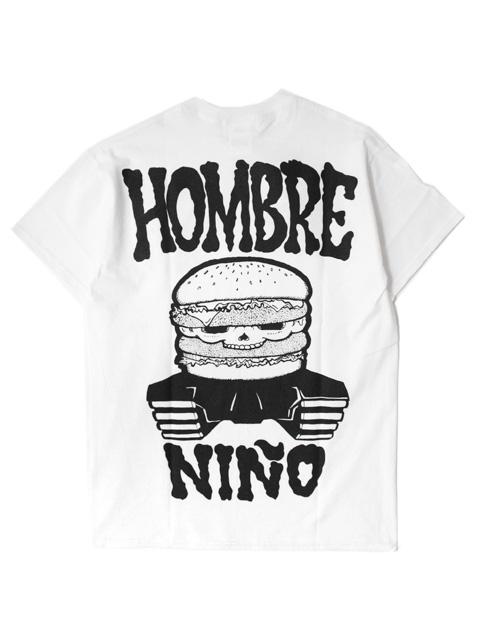 【30%OFF】Hombre Nino S/S PRINT TEE -BURGER SKULL-