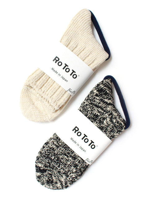 RoToTo LOW GAUGE SLUB SOCKS