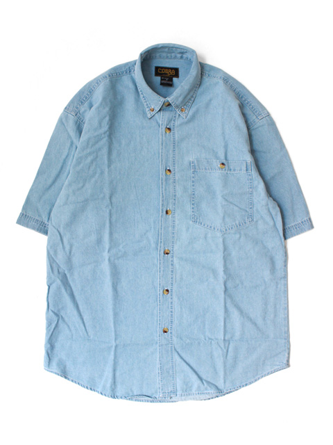【30%OFF】COBRA CAPS Denim Washed Shirt(半袖)