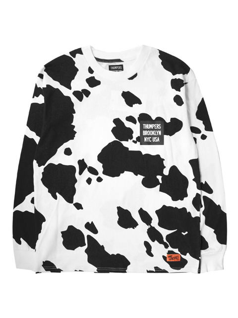 THUMPERS NYC Cattle Pattern L/S Tee