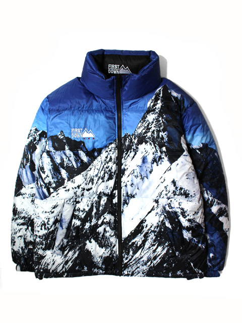 FIRST DOWN POLY SNOW MOUNTAIN REVERSIBLE DOWN JACKET