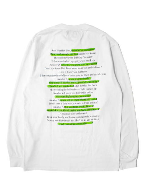 NOTHIN'SPECIAL HIGHLIGHTER POCKET LONG SLEEVE