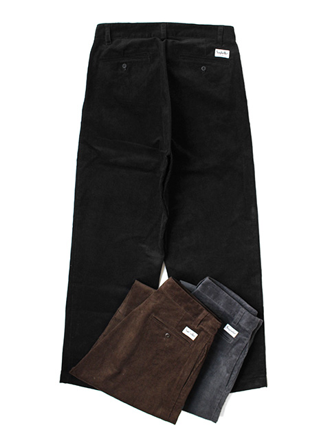 SAYHELLO Daily Work Corduroy Pants -Wide-Fit-
