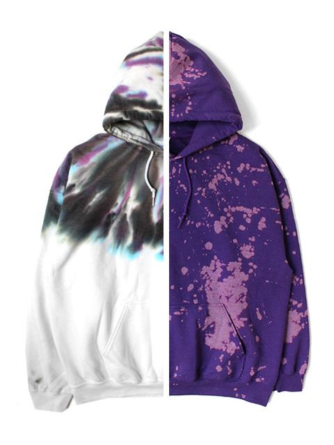 【20%OFF】Tie Dye HOODIE -Pur/VLT-