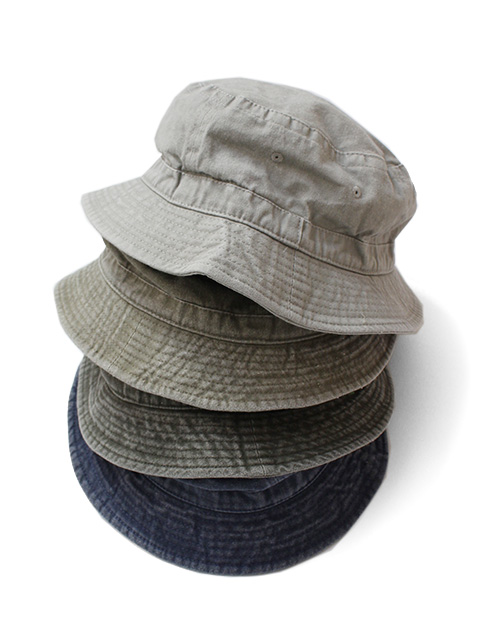 COBRA CAPS Garment Washed Bucket Hat -Cotton-