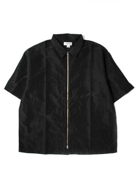 tone SHINY ZIP UP SHIRT