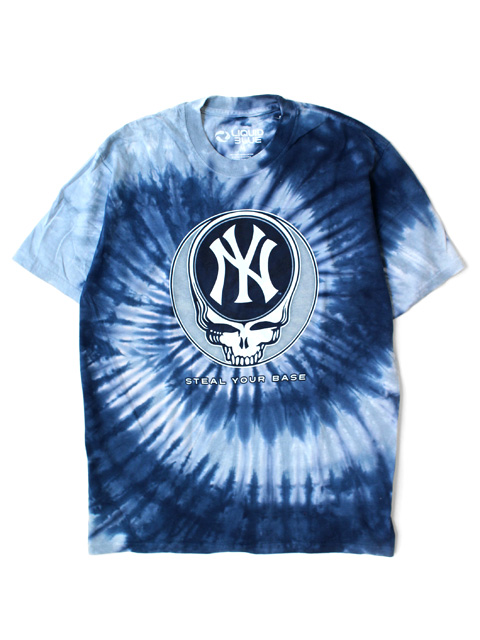 LIQUID BLUE GRATEFUL DEAD x New York Yankees Steal Your Base T-Shirts