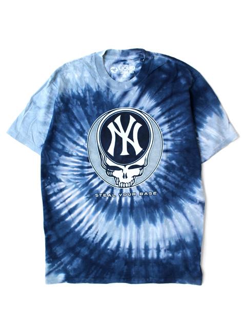 LIQUID BLUE GRATEFUL DEAD x New York Yankees Steal Your Base T-Shirts