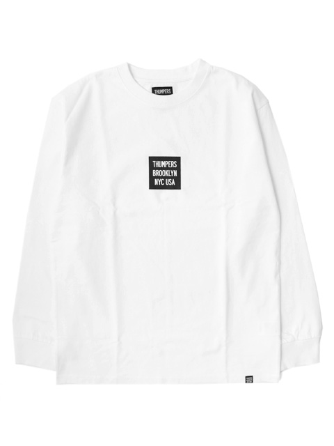 【50%OFF】THUMPERS NYC BOX LOGO L/S Tee