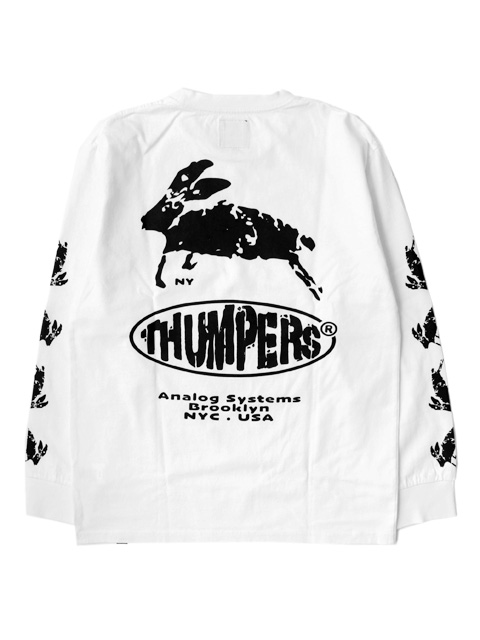 【40%OFF】THUMPERS NYC ANALOG SYSTEM L/S Tee