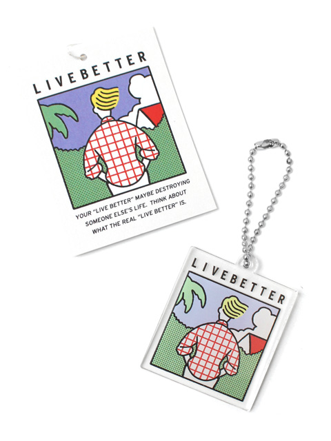 【50%OFF】Live Better LB Keyring