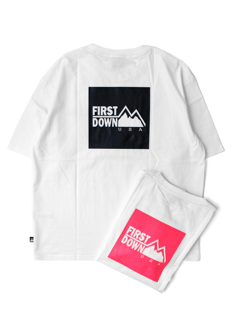 【50%OFF】FIRST DOWN Print S/S T-shirt