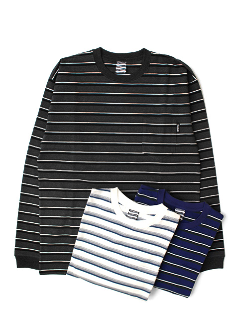 SAYHELLO Border Pocket L/S Tee
