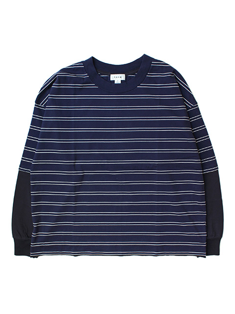 【40%OFF】tone LAYARD T SHIRT -NAVY STRIPE-
