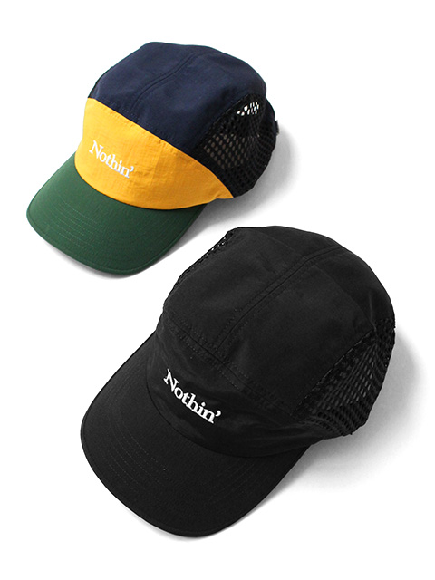 【40%OFF】NOTHIN'SPECIAL SIDE MESH NYLON 5-PANEL CAP