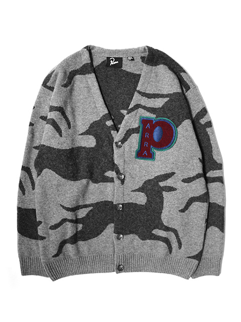 by Parra jumping foxes knitted cardigan