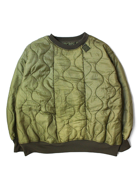 【40%OFF】oddment Quilting Crew -Olive-