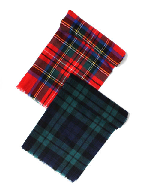 【50%OFF】Johnstons of Elgin Tartan Stole -Cashmere-