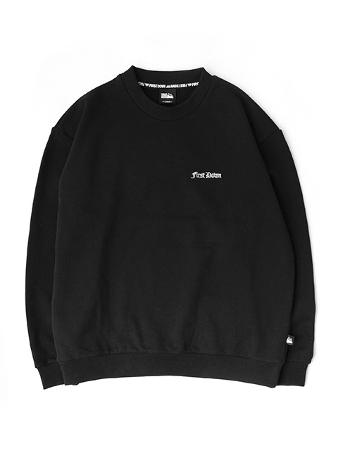 FIRST DOWN GOTHIC CREW SWEAT Designed by TOYA HORIUCHI