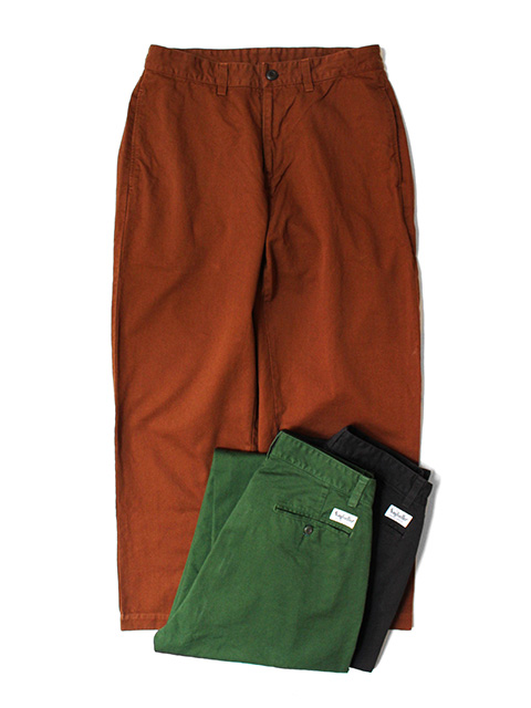 SAYHELLO Daily Work Garment-Dye Chino Pants -Wide-Fit-