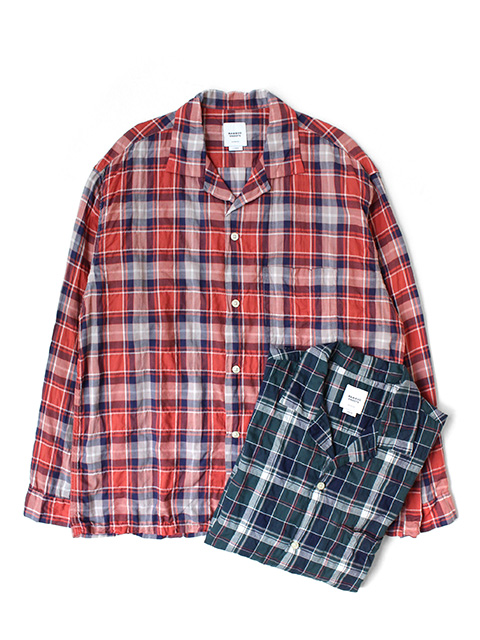 BAMBOO SHOOTS L/S PLAID OPEN COLLAR SHIRT