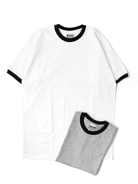 【30%OFF】BAYSIDE MADE IN USA 6.1 OZ UNISEX RINGER CREW